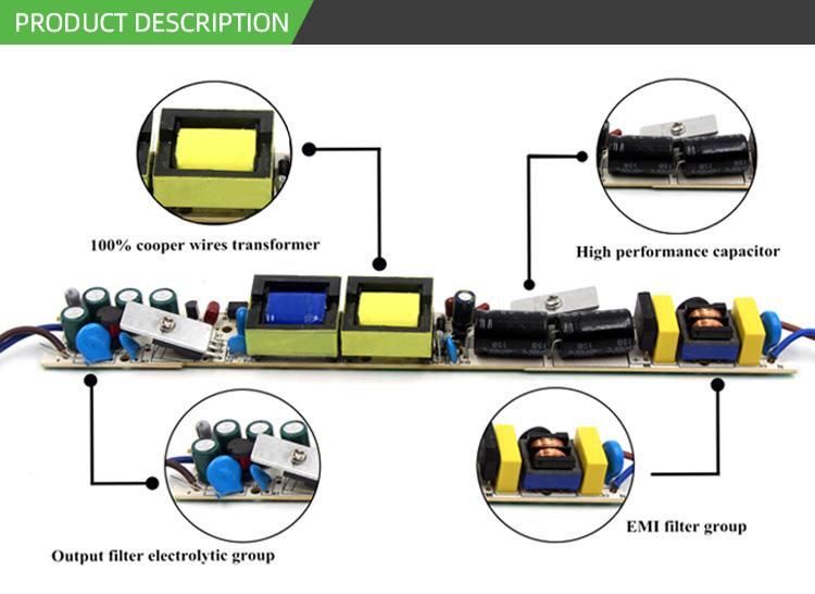Высокое качество дешевые ip67 12 в 100 Вт три в одном с регулируемой яркостью постоянного напряжения водонепроницаемый светодиодный блок драйвера питания