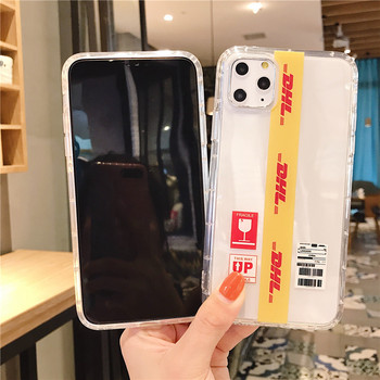 Fashion Street Tide Style DHL Express Off White Clear soft Phone Case Cover For iPhone 11 Pro Max XS XR 8 7 Plus