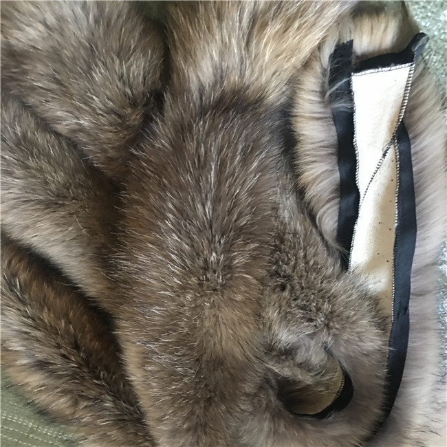 Raccoon Fur Hood Detachable Collars Scarf