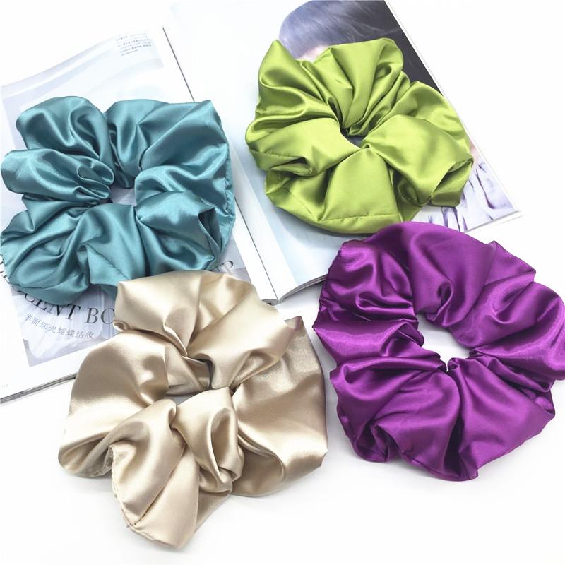 Модные ботфорты размеры имитация шелка резинка для волос атласная резинка для волос аксессуары для волос для женщин