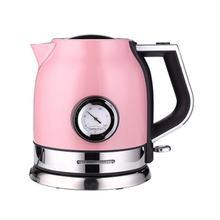 Электрический чайник для кофе из нержавеющей стали с термометром, антиобжигающий кофейник, изоляционный чайник, инструмент для напитков(Китай)