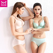 Miiow apparel fashion girl comfortable wire free one-piece bra seamless bra laser cut bra