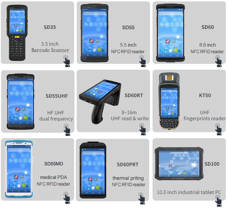 Retail Industry Wireless Data Collection Terminal Android Rugged PDA Handheld RFID Reader UHF