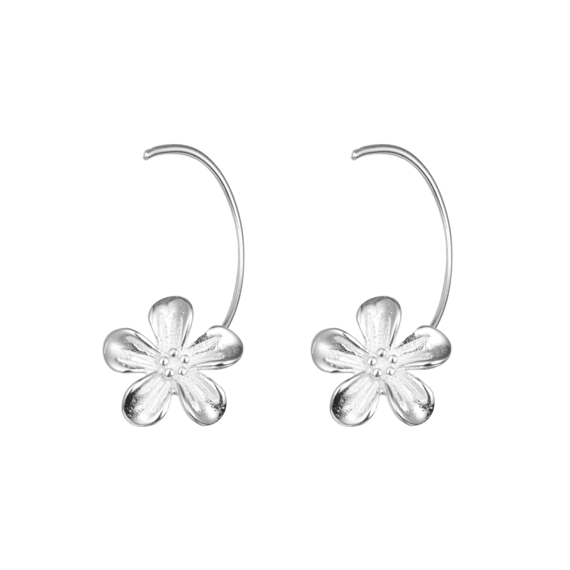 2019 factory wholesale 925 sterling silver jewelry zircon <strong>flower</strong> clip <strong>earrings</strong> <strong>gold</strong> plated for girls