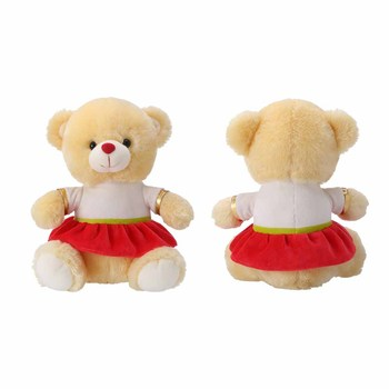 2020 Baby plush toy kids girl gifts teddy bear wholesale low MOQ custom teddy bear with Logo skirt