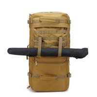 Hiking long shoulder strap canvas backpack with hidden straps Military Duffel bag large-capacity camping multi-function travel