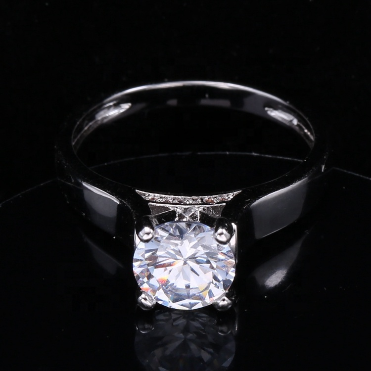 best price of white cz stone engagement ring couple rings white and black color