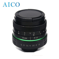 High Quality 35mm F1.6 APSC Mirrorless Camera dslr Lens with C Mount for DSLR OEM Acceptable