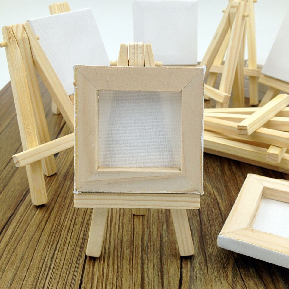 Tabletop wooden easel for painting