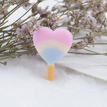 7 шт./лот, милый леденец, мороженое, сердце, сделай сам, полимерные аксессуары, серьги, брелок, ожерелье, подвеска, плоская задняя часть, поддел...(Китай)