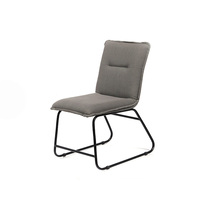 K&B wholesale high quality space saving metal iron linen fabric living room leisure dining chair for sale