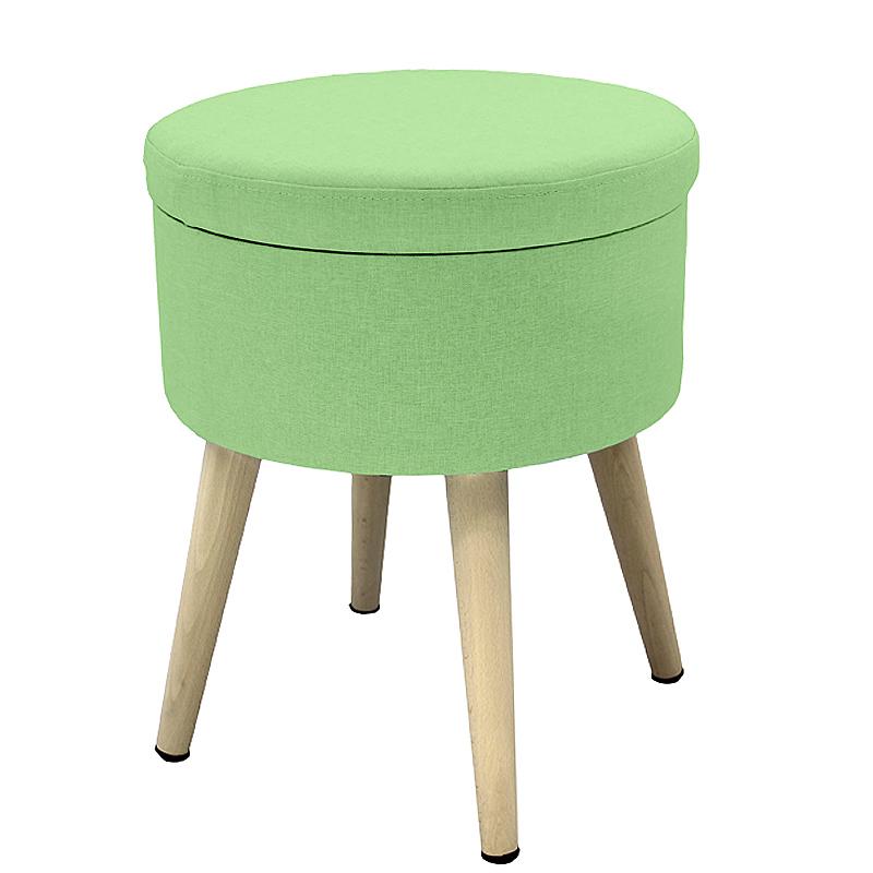 Round Ottoman Stool Wood Legs modern Chair