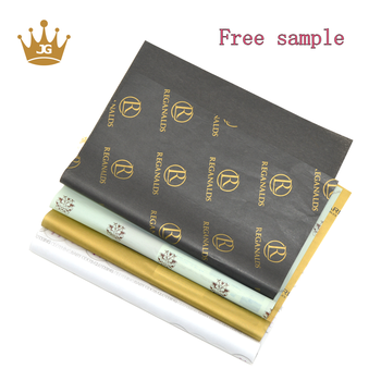 .Custom Biodegradable Black Or Gold Printed Gift Wrapping Paper With Logo