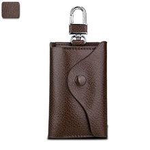 Кожаный мужской кошелек для ключей, короткий квадратный кошелек из коровьей кожи с отделением для идентификационных карт, многофункционал...(Китай)