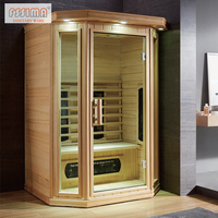 High-quality Dry Steam Sauna Room Wooden Far Infrared Sweating Box Home Sauna Cabin