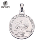 sterling silver plated 3D logo angel custom coin charm pendant