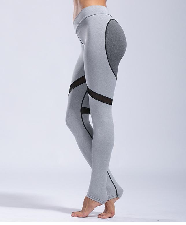 Hot Sex Fitness Womens Leggings, Custom Seamless Mesh Yoga Pants Leggings