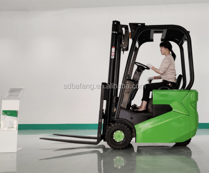 2 Ton 3m Height CE Certification Electric Driving Style Hydraulic Forklift Balanced Heavy All-electric Stacker