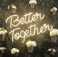 custom light up wedding sign led neon love letters wedding commercial neon wedding peep