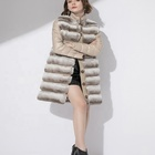 Elegant Rex Rabbit Fur Coat Women Fur with down jacket two piece set