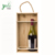 Wood Bamboo Wine Box With 2 Bottles Holders