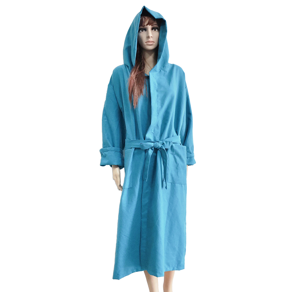 High Water Absorption Luxury Soft  Microfiber suede quick dry bathrobe