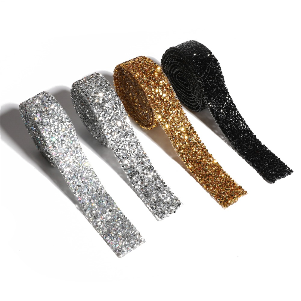 Strass Ribbon Rhinestone Crystal Motif Tape Sewing Trim Iron On Dress Appliques