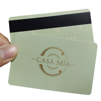 Plastic Magnetic Stripe Card / Standard Size VIP Plastic Magnetic Card / Soft PVC Credit Card