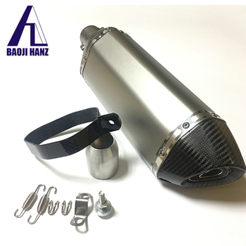 Manufacture motorcycle part titanium motorcycle exhaust muffler