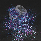 Wholesale Cosmetic Festival Decoration Biodegradable Glitter Powder Mix Chunky Glitter