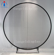 Iangel hot sale backdrop mesh screen wedding backdrop decoration round mesh backdrop