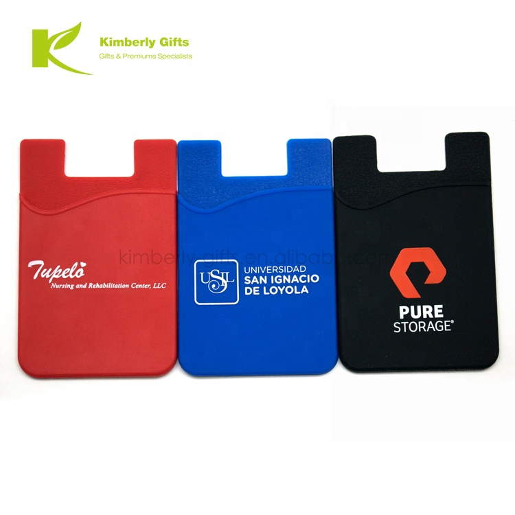 most popular and useful promotion silk printing silicone mobile <strong>phone</strong> wallet card holder , <strong>cell</strong> <strong>phone</strong> <strong>pocket</strong>