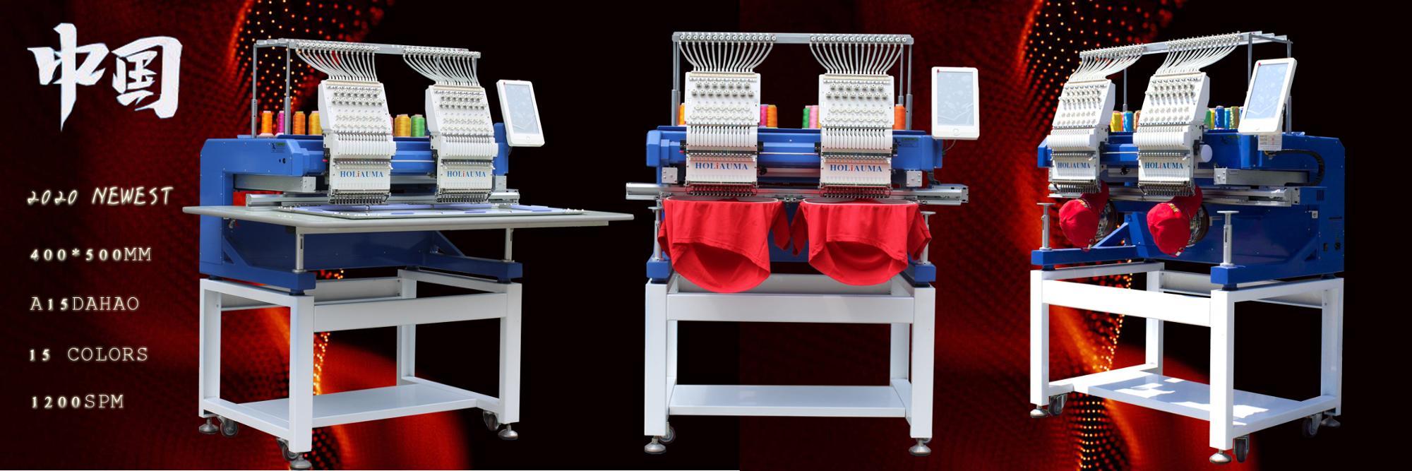 Mesmo como Tajima swf//máquina de bordar feliz HOLiAUMA recentes 2 cabeça da máquina do bordado para o chapéu/camiseta/flat