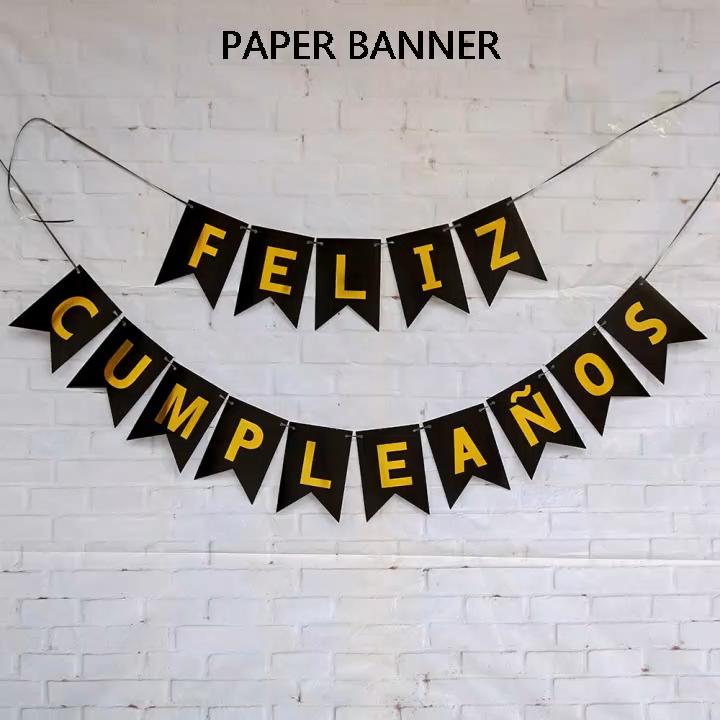 Glücklich Geburtstag Banner Party Dekorationen Papier Geburtstag Bunting Flagge Banner