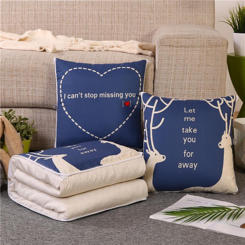 Fabrika sıcak satış hava seyahat 2 in 1 battaniye yastık içine