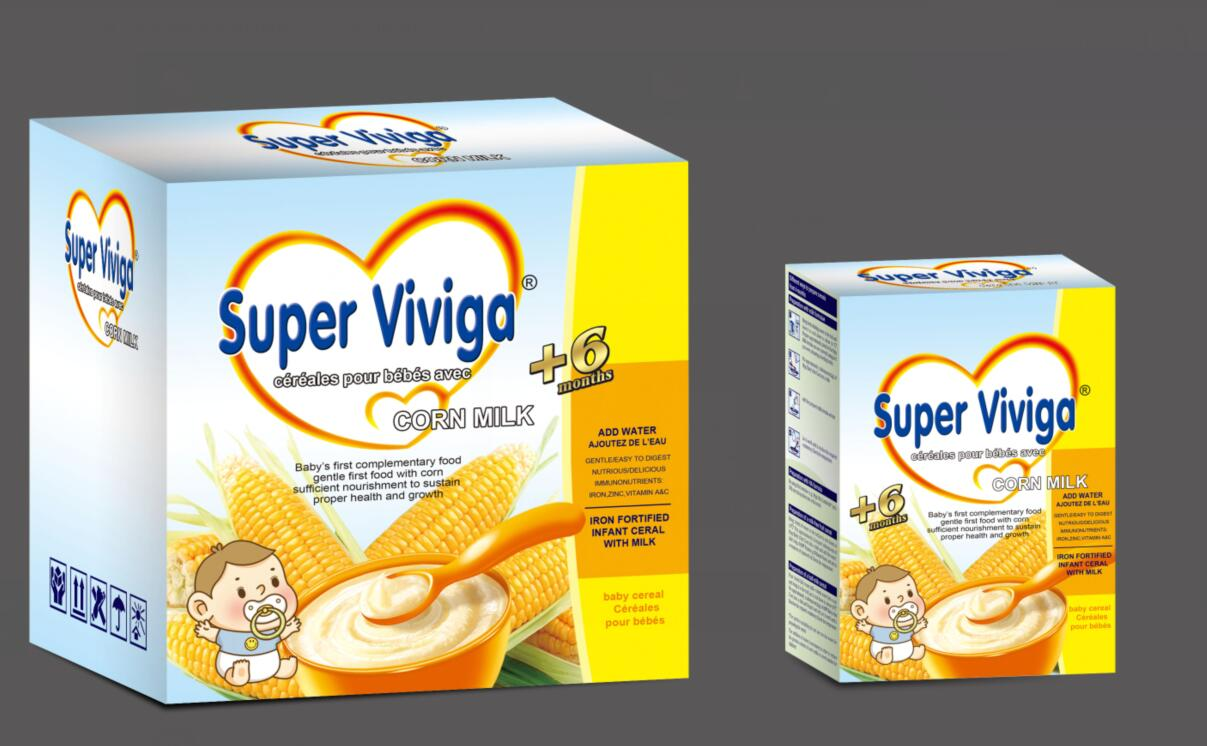 Corn milk infant cereal with milk rice and milk
