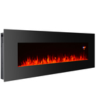 "Adjustable Thermostat Wall Electric Fireplace 50"" Cheap Wall Mounted Electric Fireplace with Led Light Heater"