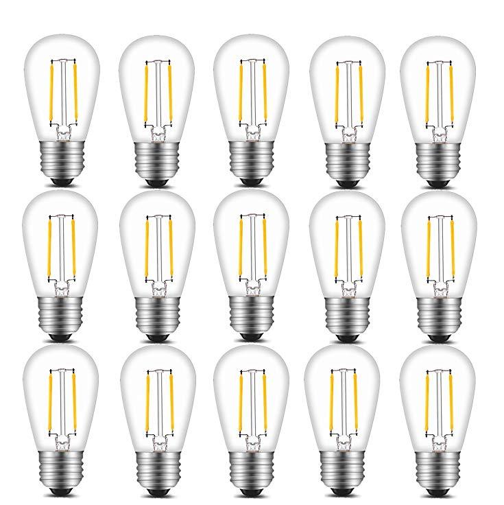 S14 Vintage LED filament Light Bulbs kit, 2W 200 Lumens 2700K Soft Warm emergency led bulb manufacturing