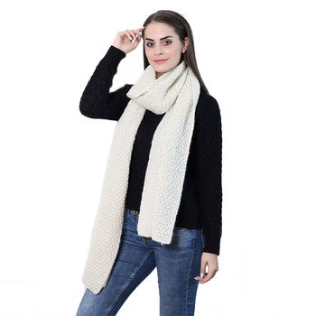 2020  New Arrivals Fashion high quality knit new acrylic women winter knit plain color scarf