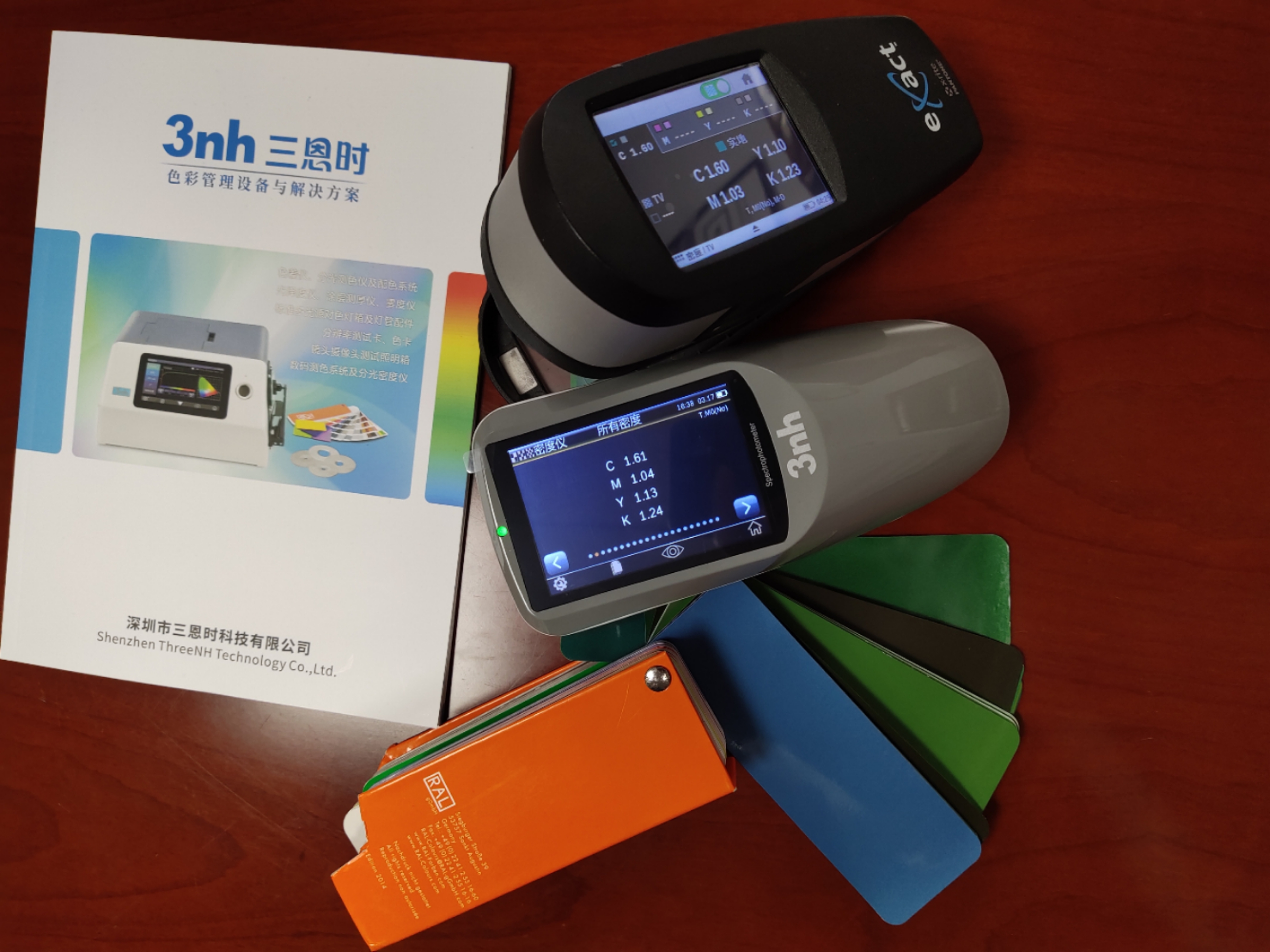 3nh YD5010 Grating Spectrophotometer Densitometer CMYK LAB Color Difference Space with 45/0 for ink printing and Film Processing
