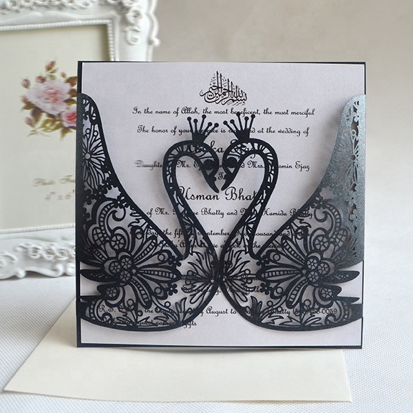 Laser cut invitation wedding <strong>card</strong>