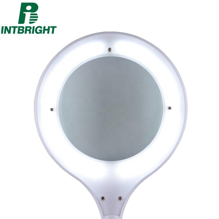 Led magnifying glass portable desk magnifying lamp