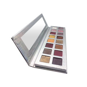 Custom unbranded mineral top quality ranibow makeup glitter eyeshadow palette with private label