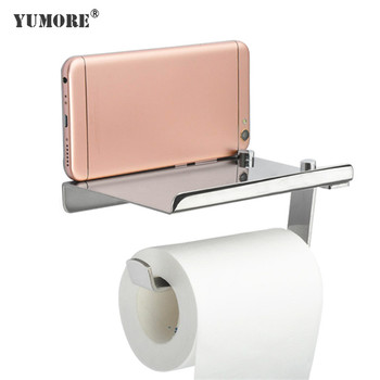 wall mount wooden recessed ceramic toilet paper holder metal rack with storage shelf top-mount paper towel wood holder