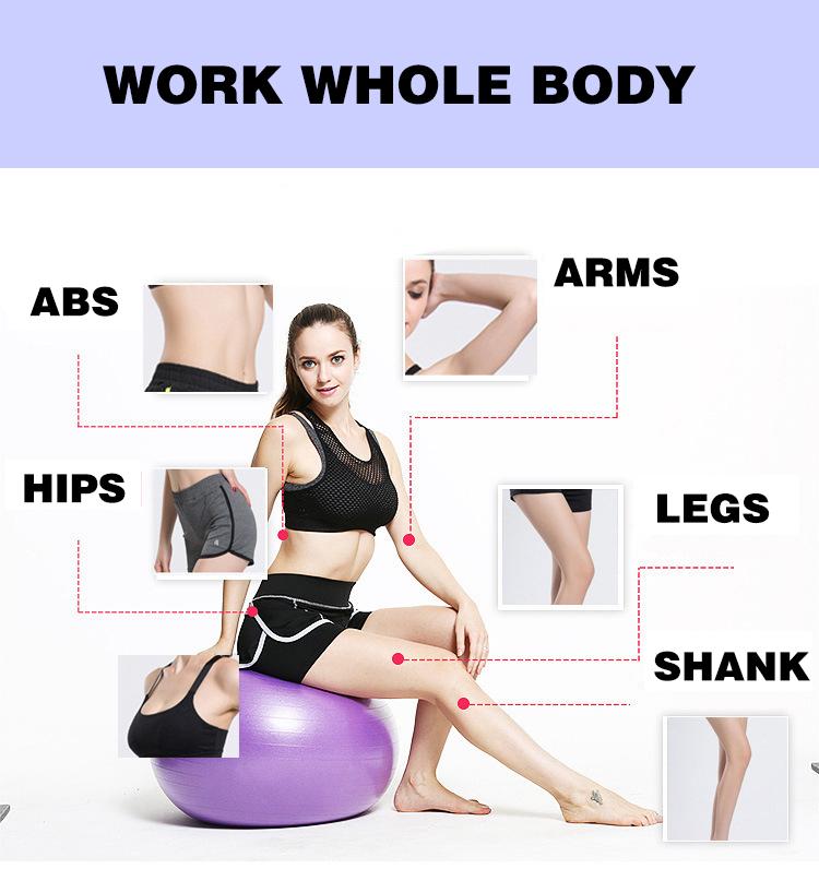 Hampool Gym Exercise Eco Friendly Yoga Ball Balance PVC Yoga Ball