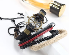 Креативный полый дизайн, ювелирный браслет, мужской черный плетеный браслет из искусственной кожи, женский красивый винтажный широкий кожа...(Китай)