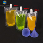 Spout Pouch Drink Pouches Wholesale Cheaper Price Transparent 700ml Doypack Spout Drink Pouch With Free Funnel