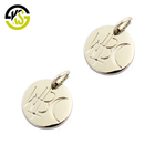 Custom handmade engraved alloy metal logo small charm jewelry tags for pendants