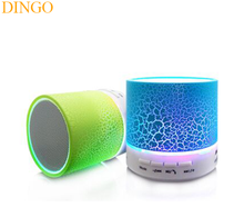 Música mini bluetooth speaker led out door falante sem fio bluetooth com luz led