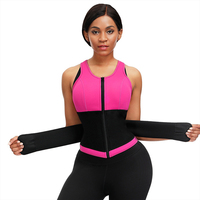 Dropship Zip Removable Chest Pad Neoprene Shapers Wild Straps Tummy Control Body Shaper Vest Sweat Latex Bodysuits For Women